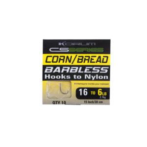Korum Barbless Vorfachhaken Sweetcorn-Bread
